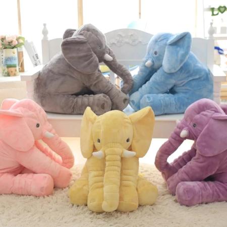 éléphant jaune, peluche éléphant rose, peluche éléphant gris, peluche éléphant bleu, peluche éléphant violet, peluche éléphant géante, peluche oreiller