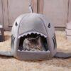 shine, panier requin pour chat ou chien, niche en forme de requin