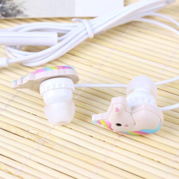 Shine, écouteurs licorne kawaii avec microphone intégré