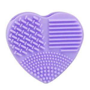 shine boutique, cœur nettoyant pinceaux de maquillage en silicone, gant silicone nettoyant pinceaux de maquillage
