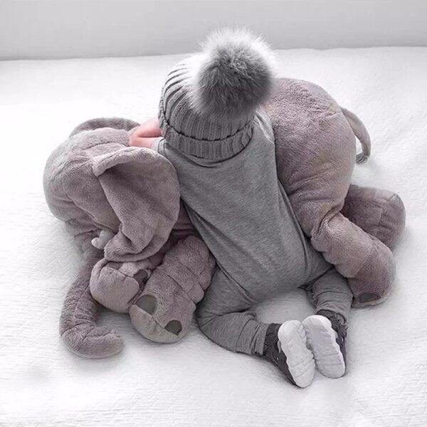 shine, coussin éléphant gris, peluche éléphant, doudou éléphant,