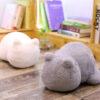shine, coussin oreiller chat gris, blanc