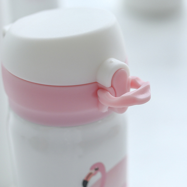 shineboutique, thermos flamant rose, bouteille isotherme flamingo, gourde