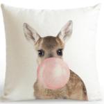 shine, coussin kangourou Bulle de gum rose ou bleu