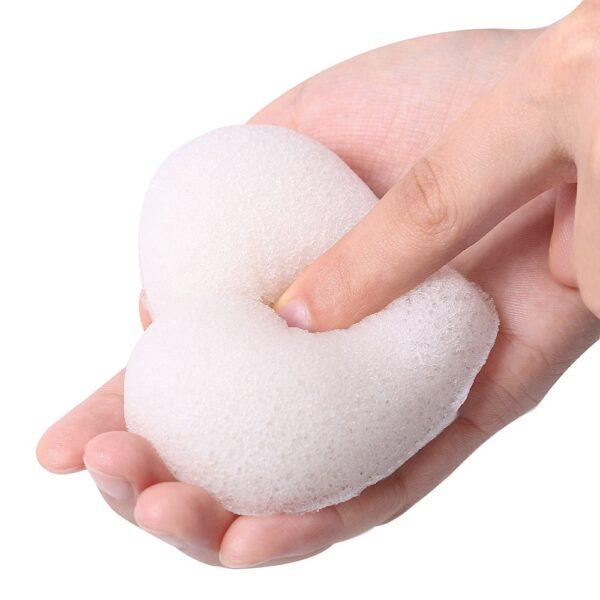 shineboutique, éponge konjac coeur, éponge exfolliante visage, éponge nettoyante visage, éponge 100% naturelle,