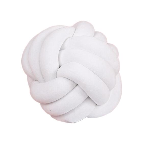 Shineboutique, coussin pelote, coussin nœud tressé, coussin noeud velours, boule velours, coussin knot pillow