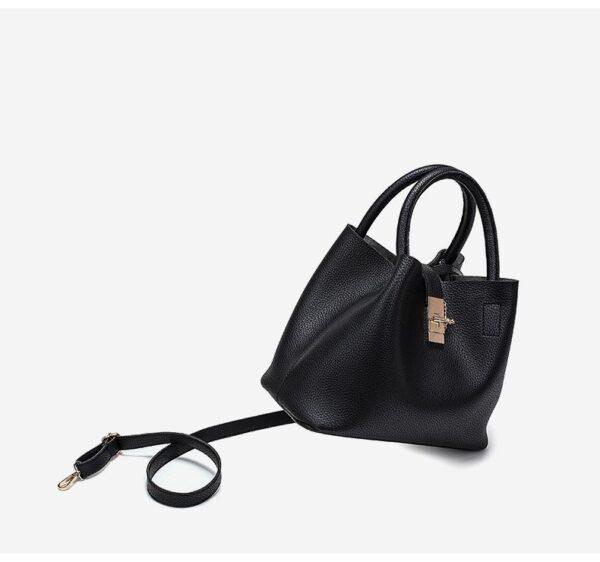 shine, sac à main constance, élégant et raffiné en simili cuir noir