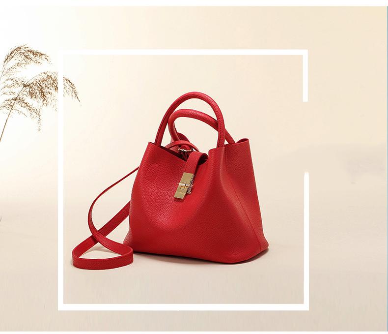 shine, sac à main constance, élégant et raffiné en simili cuir rouge