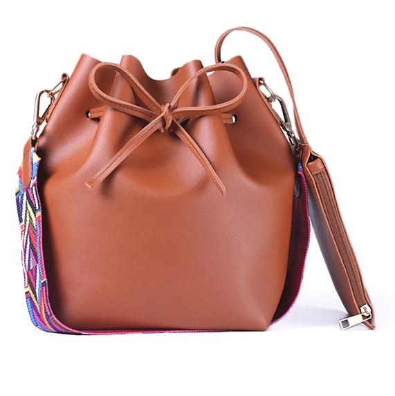 shineboutique, sac seau amitola, sac besace simili cuir, sac bandoulière cuir