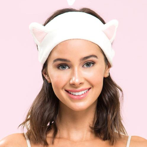 shine,  bandeau maquillage chat, bandeau chat, bandeau cheveux, bandeau serre tête, bandeau chat blanc