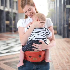 shine, ceinture porte-bébé tabouret taille rouge