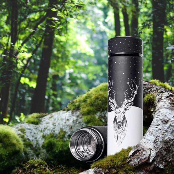 Thermos Cerf, bouteille isotherme be brave