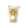 trousse rétractable chat beige