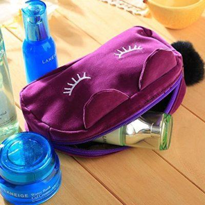 Shine boutique, pochette chat, trousse maquillage, trousse de produit de beauté, trousse de toilette