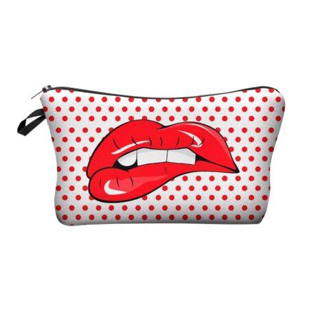 Shin boutique, pochette bouche, trousse maquillage style pop art, trousse de produit de beauté, trousse de toilette