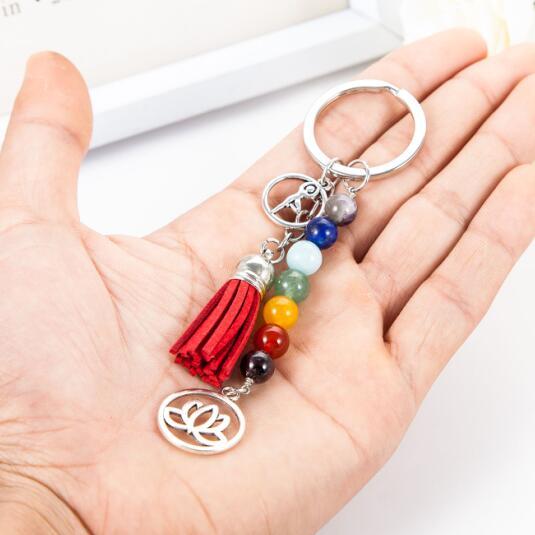 porte-clé 7 chakras, shine boutique