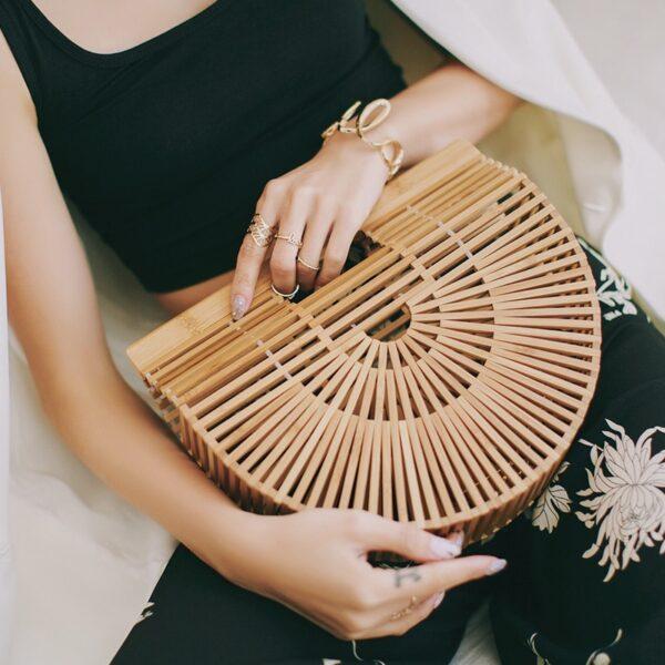 Sac à main Tao en Bambou, Shine Boutique