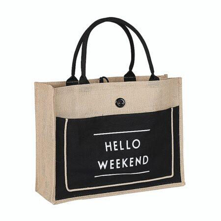 sac cabas Fidji lin pour la plage, shine boutique