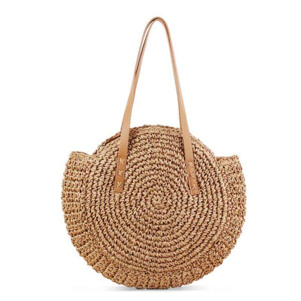 sac paille plage brun tangara, shine boutique