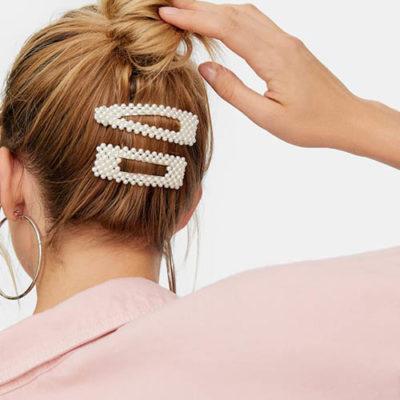 shine boutique, barrette perles sidonie, barrette cheveux tendances pour cérémonie, accessoire indispensable