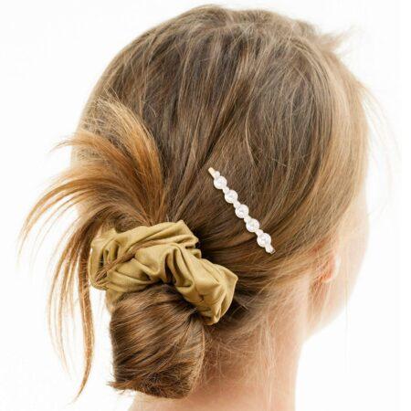 barrette plate perles artemise