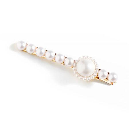 shine boutique, barrette josephine, barrette en perles, accessoire coiffure, barrette pour cheveux