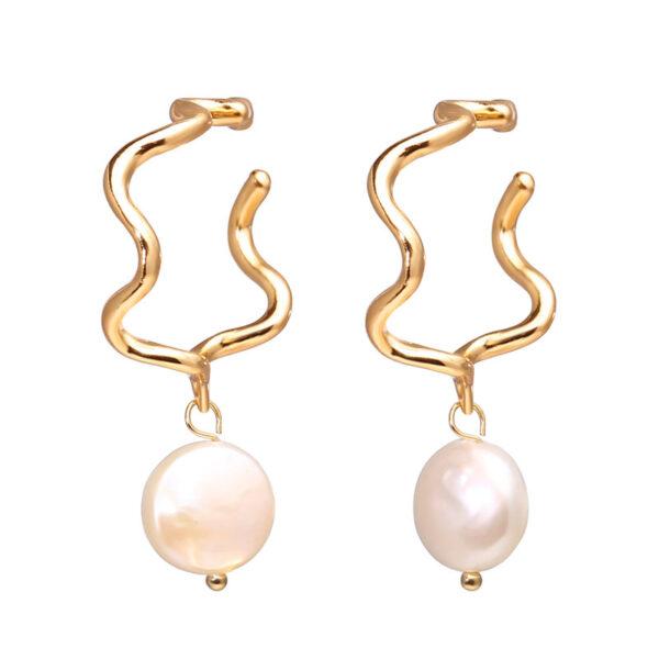 Shine boutique, boucles d'oreilles Selena, bijoux perles d'eau douce, boucles d'oreilles fantaisies