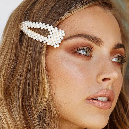 shineboutique, barrette perles fantine, barrette élégante pour mariage, barrette fashion