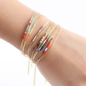 shine boutique, bracelet daya, bracelet doré fantaisie, bracelet perles