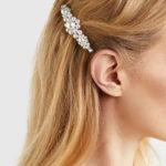 shine boutique, barrette perles fleurine, barrette cheveux tendances pour cérémonie, accessoire indispensable
