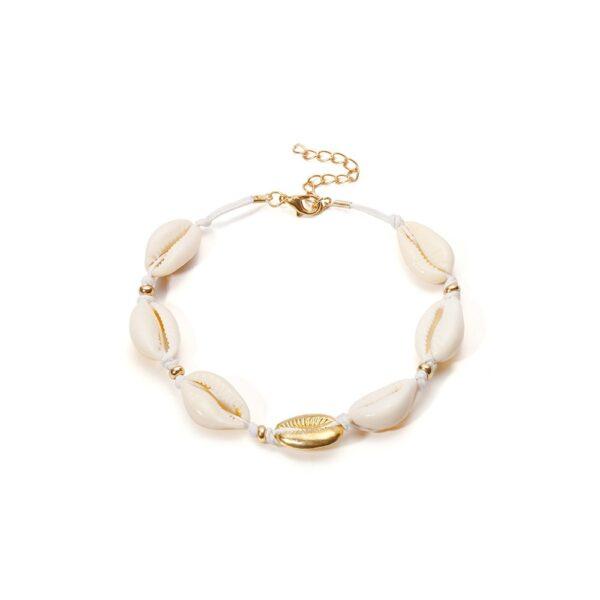 shineboutique, ensemble maui, ensemble de collier et bracelet en coquillage cauri