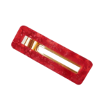 shineboutique, barrette pince rouge rectangle, barrettes acrylique