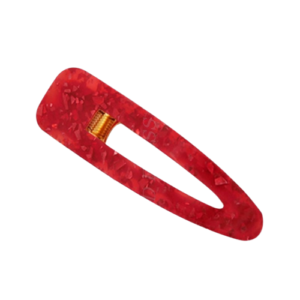 shine boutique, barrette pince rouge rectangle, barrette acrylique