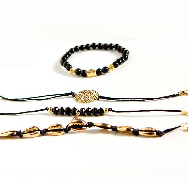 shineboutique, ensemble de bracelets anthéa, bracelets bohème
