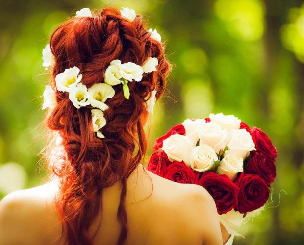 Half Up Hair : la coiffure idéale pour un mariage. coiffure bohème