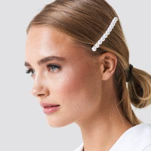 shine boutique, barrette perles aglaé, barrette cheveux tendances pour cérémonie, accessoire indispensable