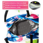 shine boutique, lunch bag gouache, sac repas isotherme