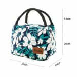 shineboutique, lunch bag flowers, sac repas isotherme