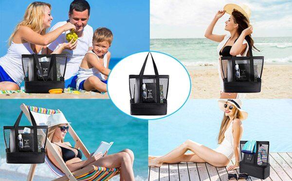 shine boutique, sac isotherme playa, sac de plage, sac fourre-tout, sac de course