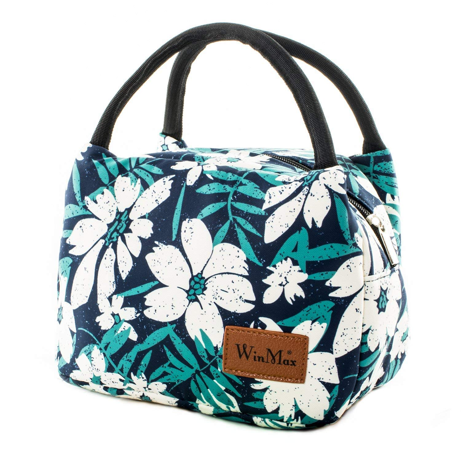 shine boutique, lunch bag flowers, sac repas isotherme