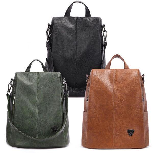 Shineboutique, sac à dos Evita, sac à dos antivol, sac à doc en cuir, sac à dos de voyage