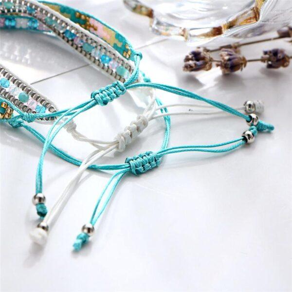 shineboutique, bracelet Maya, bracelet perles miuky, bracelet bohème chic, bracelet fantaisie