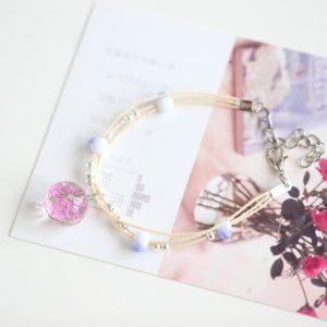 shine boutique, bracelet boule de fleur, bracelet bohème, bracelet fantaisie