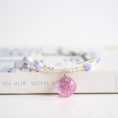 shineboutique, bracelet boule de fleur, bracelet bohème, bracelet fantaisie