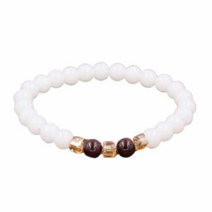 shine boutique, bracelet mala calcédoine, bracelet spirituelle, bracelet yoga, bracelet en pierres naturelles, bracelet bien-être