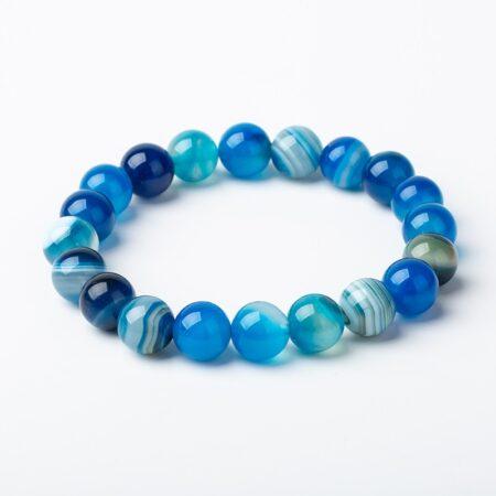 shine boutique, bracelet Mala agate, bracelet spirituel en pierre naturelle