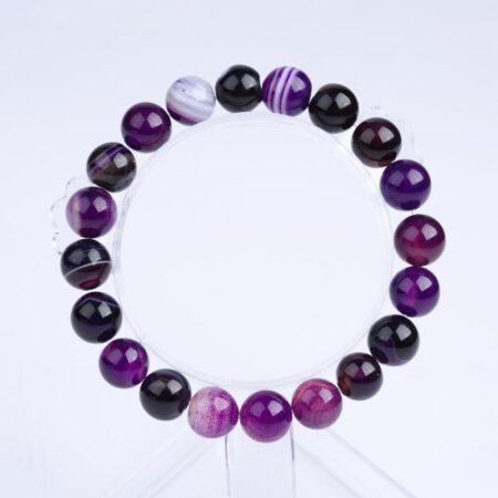 Shine boutique, Bracelet mala améthyste, bracelet spirituel en pierre précieuses