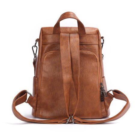 Shineboutique, sac à dos à fermeture cachée Evita, sac à dos antivol, sac à doc en cuir, sac à dos de voyage