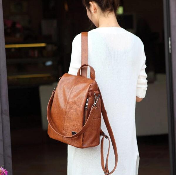 shine boutique, sac à dos evita, sac à dos antivola, sac à dos à fermeture cachée antivol