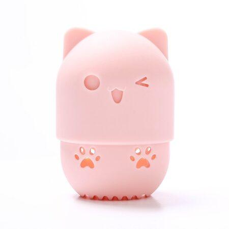shineboutique, range éponge chat à maquillage, boite de transport pour éponge à maquillage, range éponge pour beauty blender, porte éponge à maquillage